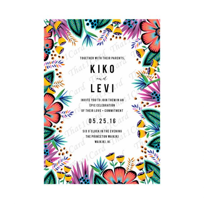 Floral Tribal quirky invitation in Chennai