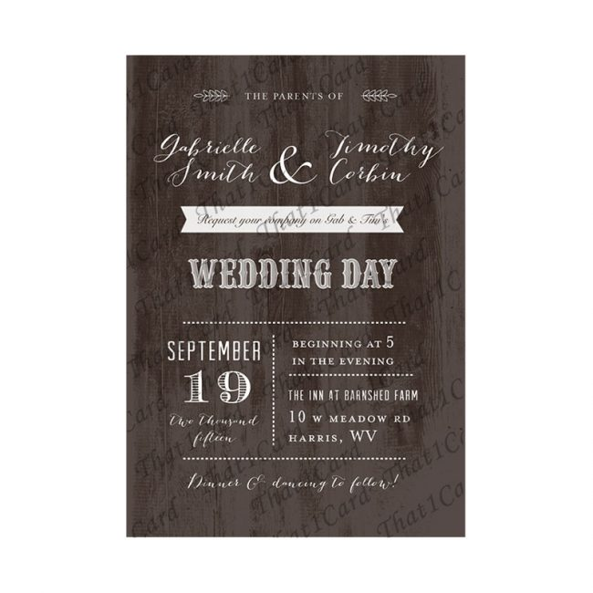 Customizable wooden texture Invitation Card in Chennai