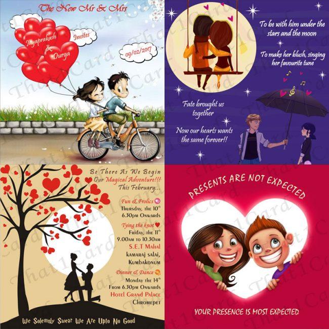 Hearts filled Creative card