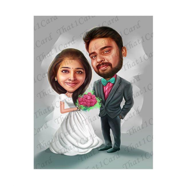 Beautiful Couple Caricature