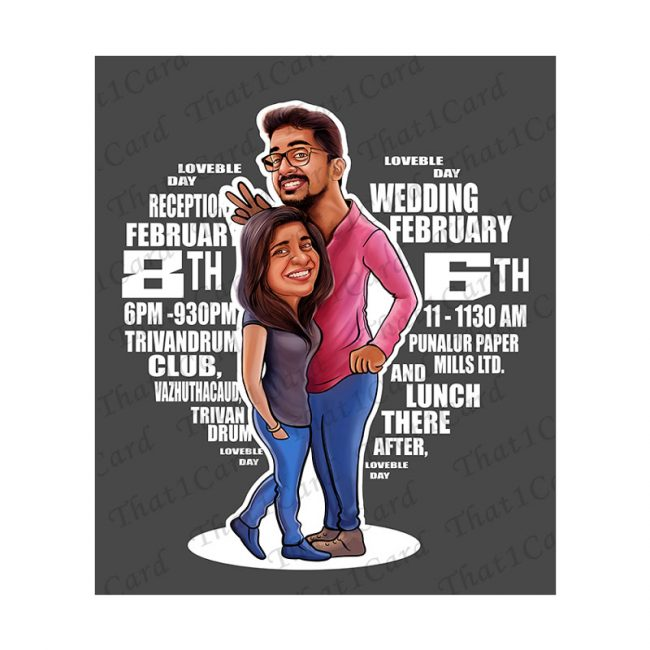 Unique couple Caricature online